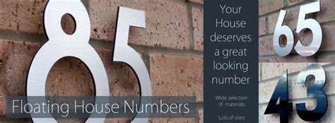 design house numbers uk individual floating stand off numbers and flat cut self