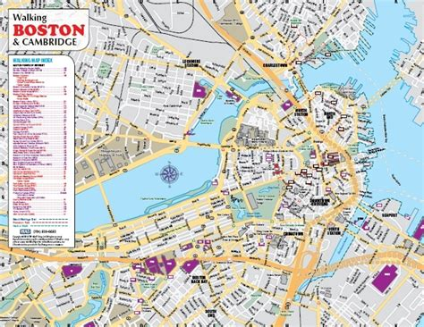 map of boston ma order printed boston and cambridge walking driving visitor maps