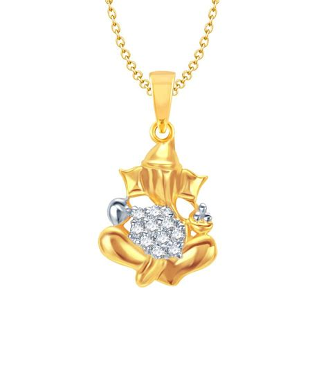 meenaz lambodara ganesha gold rhodium plated cz god