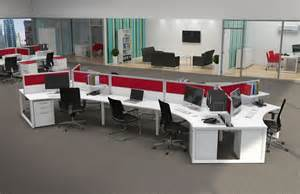 Office Desk Layout Contemporary Office Workstations For Open Space Office Space Inspiration