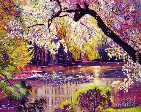 spring paint david lloyd glover central park spring pond painting