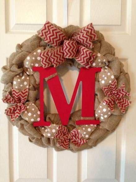 ideas  front door wreaths diy initials wedding