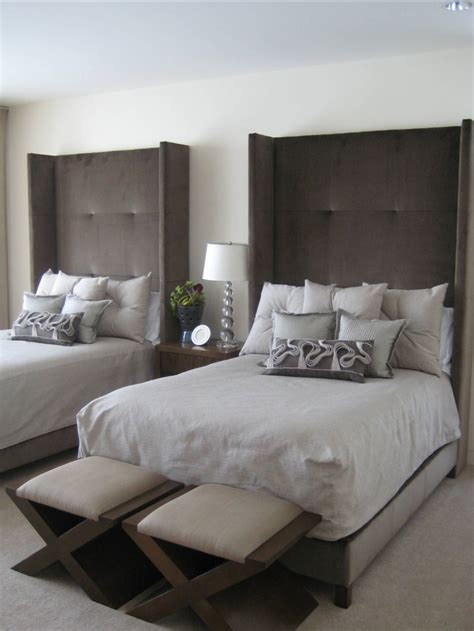 twin beds and headboards in guest room sleep pinterest