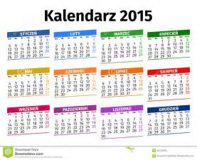 polish calendar 2015 stock vector image 45142255