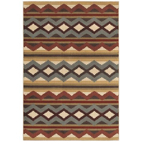 4 ft rug home decorators collection chalet multi 4 ft x 6 ft area rug 454471 the home depot