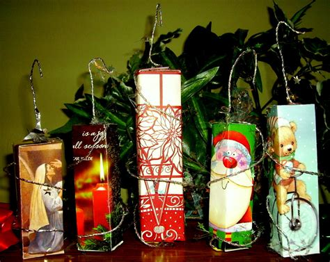 christmas card ornaments kids glitter