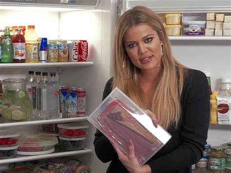 khloe kardashian organization khloe kardashian s refrigerator is just as organized as