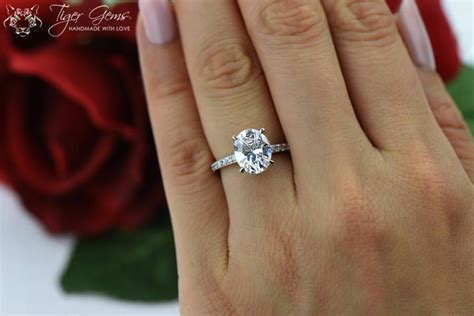 3 25 ctw oval solitaire ring engagement ring half