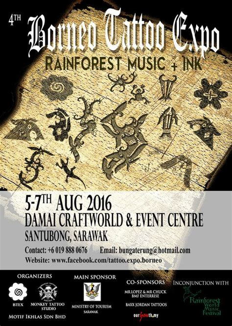 tattoo convention miri 4th traditional tattoo expo borneo august 2016