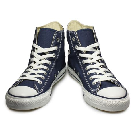 Converse Canvas Navy Blue Size 43 converse all navy blue canvas mens womens trainers