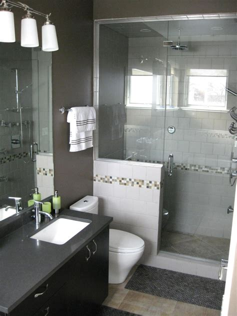 Nice Small Bathroom Vanity And Sink #7: Glass-door-shower-ideas-with-showerhead-modern-white-toilet-black-bathroom-vanity-with-white-square-faucet-and-frameless-vanity-mirror.jpeg