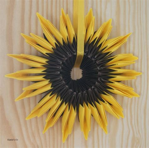 Origami Sunflower - origami sunflower sunflowers