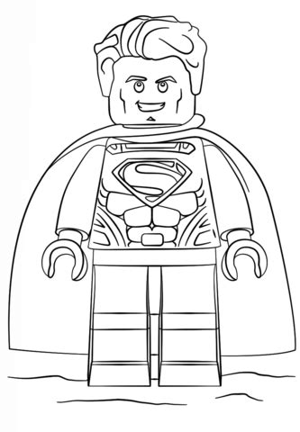 Lego Superman Coloring Pages lego superman coloring page free printable coloring pages