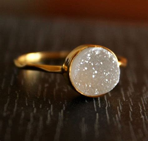 Asos Simple Gold Moon Ring 1000 ideas about druzy ring on statement