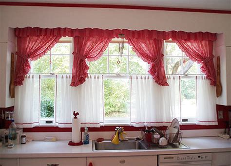 white and red kitchen curtains david creates a sunny red and white vintage kitchen for