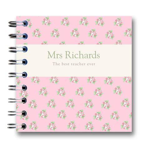 personalised teacher notebook by amanda hancocks