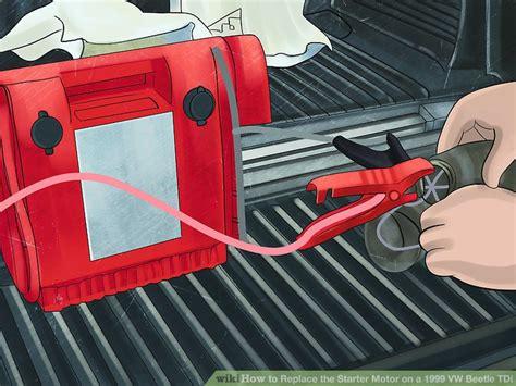 replace  starter motor    vw beetle tdi