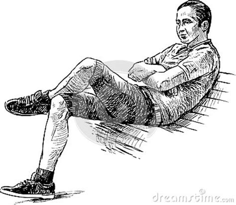 how to draw people sitting on a bench young man on a bench royalty free stock images image 31430829