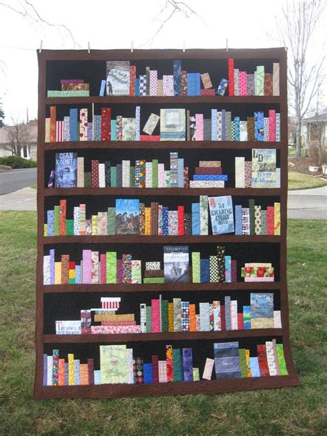 bookshelf quilt pattern custom bookcase quilt bookshelves books by sewitseamscreations
