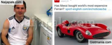 messi new car lionel messi outbids ronaldo to buy the world s most