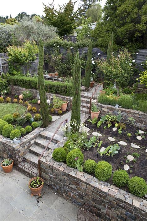 Mediterranean Gardens Ideas Beautifully Planned Mediterranean Garden In Mill Valley Ca
