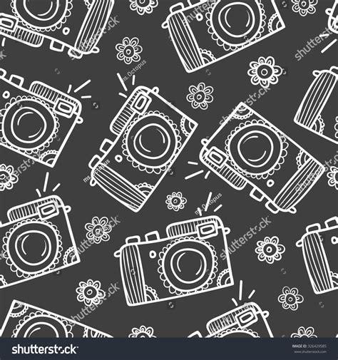 camera pattern background free seamless photo camera pattern background handdrawn stock