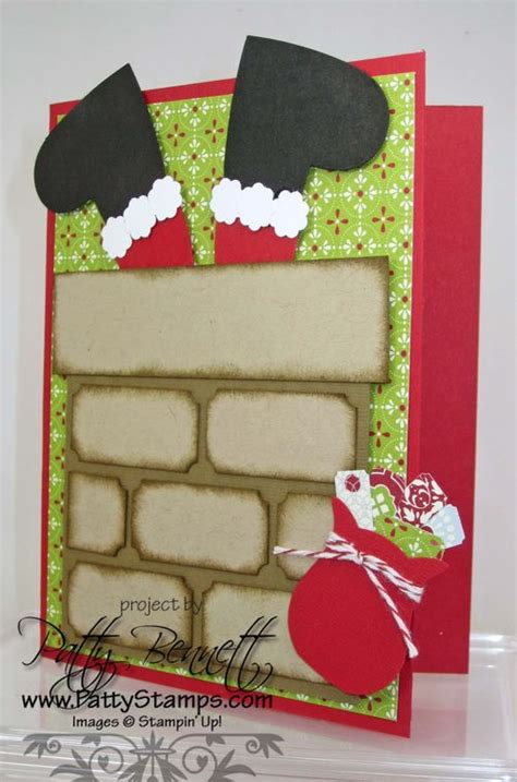 Big Handmade Cards - more santa in the chimney punch patty s sting spot