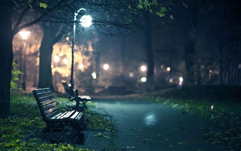 bench at night park bench at night 6929611