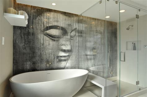 Interesting Bathroom Ideas by Unique Zen Bathroom Decoration Idea With Interesting Wall