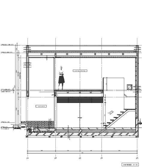 Small Section by Compact Two Story House Keeping The Noise Away In Tokyo