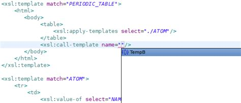 xsl named template xslt project userguide editor eclipsepedia