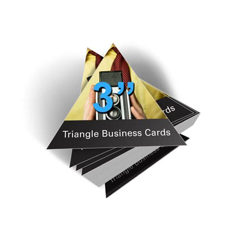 Triangle Card Template by Business Cards Premium Business Card Printing By