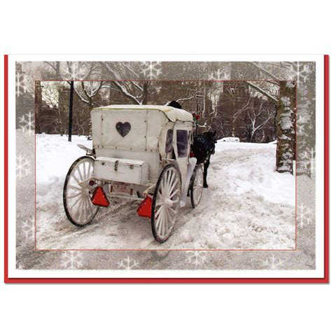 Park City Mall Gift Card - white carriage central park ny christmas boxed cards set of 10 ny christmas gifts