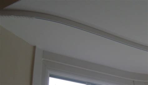 flush ceiling curtain track bay window curtain tracks that look great and work even better