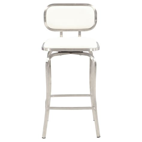 contemporary bar stools swivel chintaly quinn modern swivel counter stool jet com