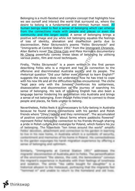 belonging thesis belonging perspective essay