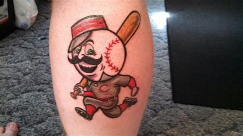 tattoo cincinnati cincinnati reds mr redlegs