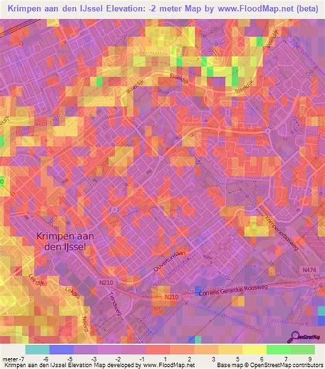 netherlands elevation map elevation of krimpen aan den ijssel netherlands elevation