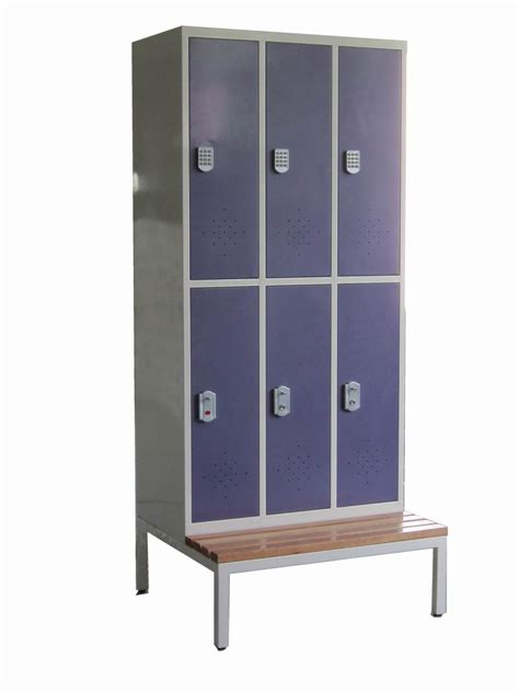 locker with bench 2 tiers staff wide metal wardrobe locker china mainland