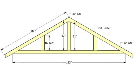 Shed Roof Trusses by Diy Wood Design Free Diy Free Woodworking Plans Outdoor