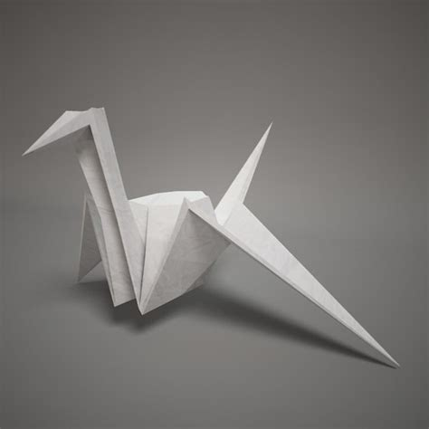 How To Make Swan With Paper - 3d model of origami paper swan