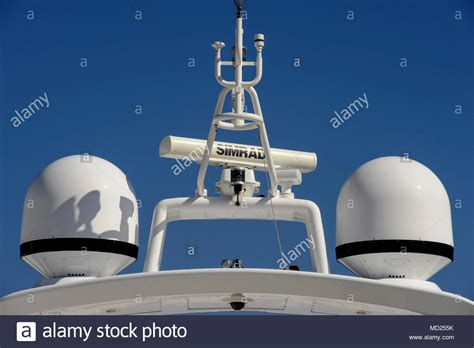 boat gps radar systems yachts and super yachts antenna mast satellites domes