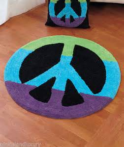 peace sign rug peace sign hippy blue green purple pink bedroom accent rug tween decor new ebay