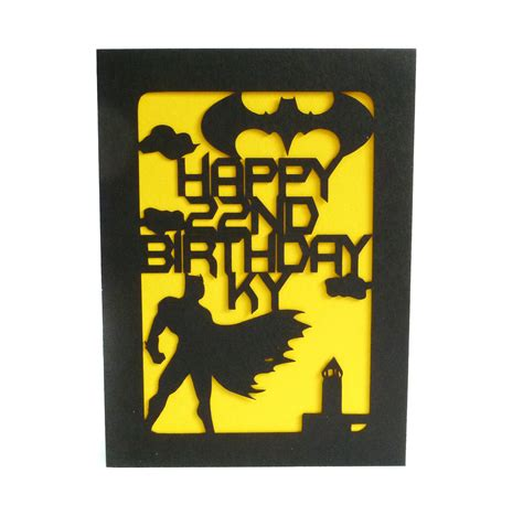 Batman Birthday Card Batman Custom Birthday Card