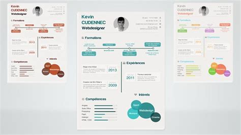 Moderner Lebenslauf Vorlage 2014 Free Infographic Resume Template