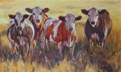 scow paintings cow painting my painted life
