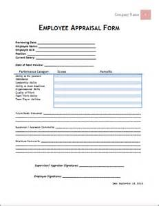 Appraisal Form Template by Doc 404524 Staff Appraisals Template Doc12401754 Staff