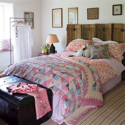 Patchwork Bed - patchwork bedroom country bedroom idea housetohome co uk