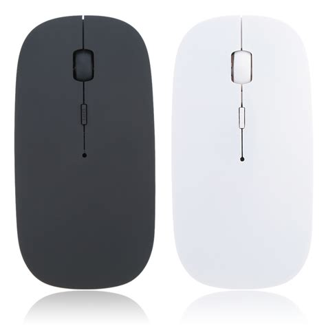 Thin Wireless Mouse Apple Slim With Usb Receiver 2 4ghz Macbook Laptop 1 ultra thin 2 4ghz wireless optical mouse computer pc mice