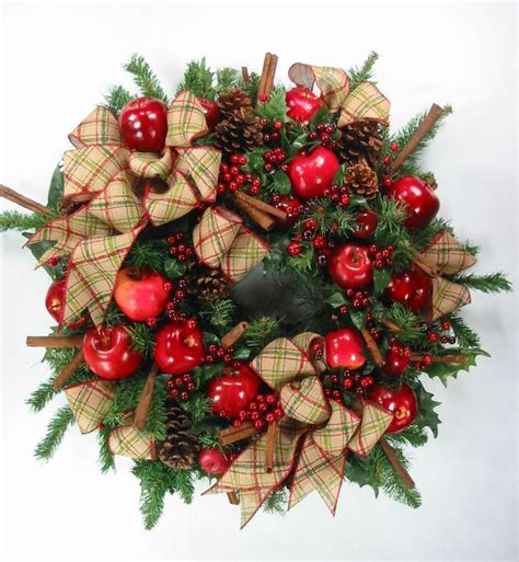 country style wreaths country style apples cinnamon wreath by ed the